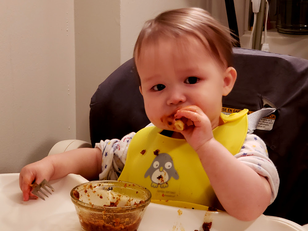 There are no table manners like a toddler's table manners!