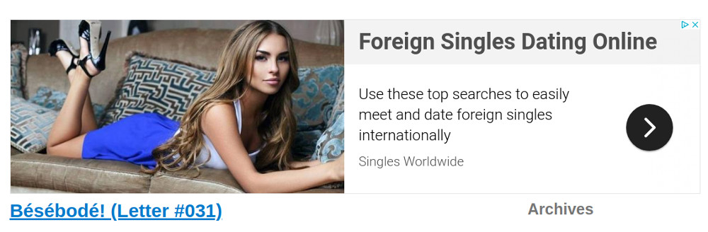 Ain't nothin' like foreign singles, eh?