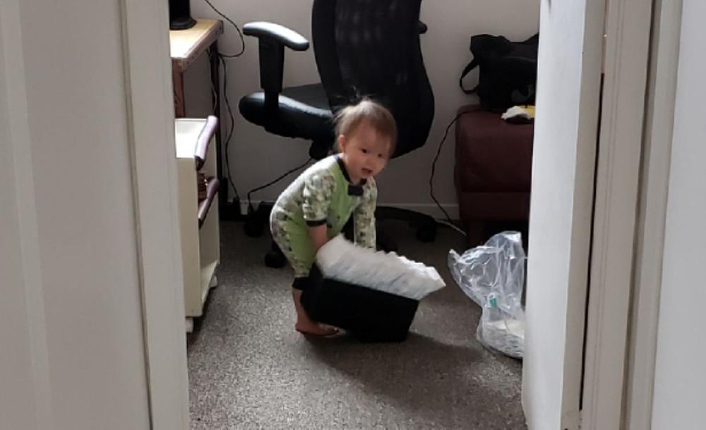 Mama's powerful little helper